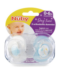 Blue Soothers 2 Pack 0-6 Months