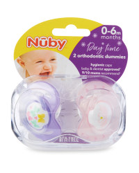 Pink Soothers 2 Pack 0-6 Months