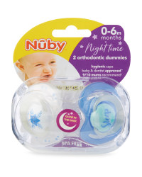 Sleep Rules Soothers 2 Pack 0-6M