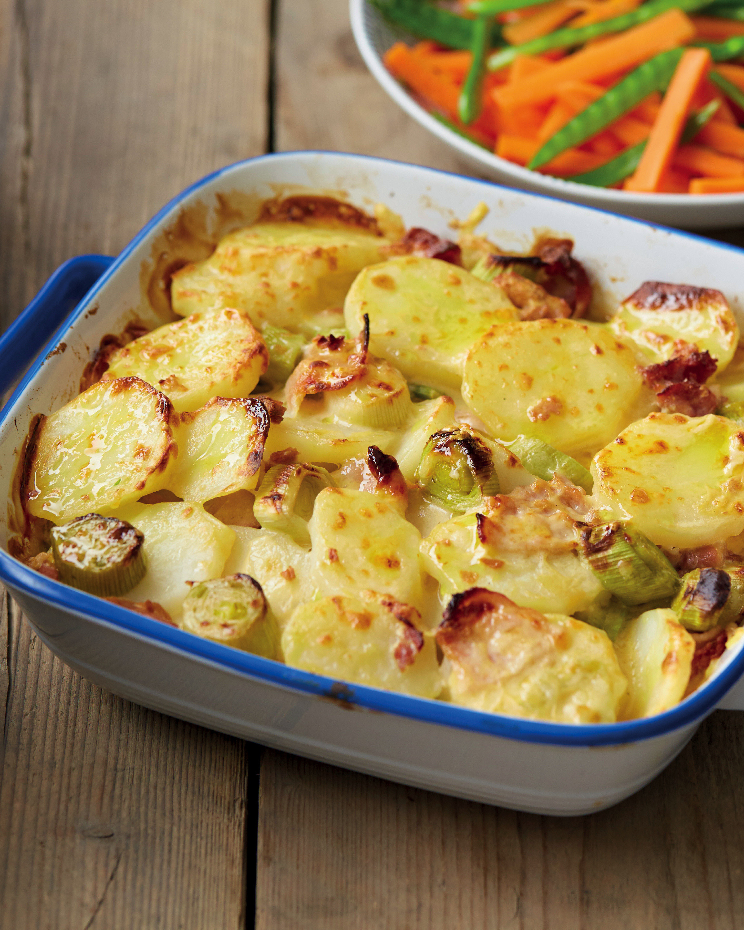 Bacon, Potato & Leek Bake with Carrots & Mangetout - ALDI UK