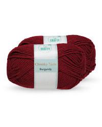 Burgundy Chunky Yarn 2 Pack