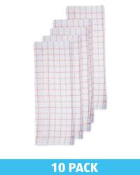 Peach Cotton Terry Tea Towel 10 Pack