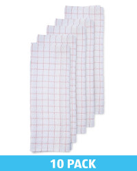 Pink Cotton Terry Tea Towel 10 Pack