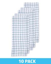 Teal Cotton Terry Tea Towel 10 Pack