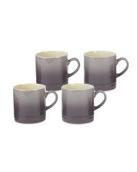Grey Stoneware Mugs 4 Pack