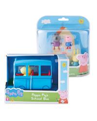 Peppa Pig Figures & School Bus Set