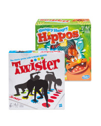 Hungry Hippos And Twister Game Set