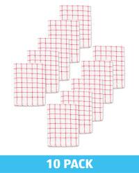 Red Terry Tea Towel 10 Pack