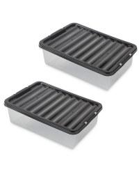 Black 32L Underbed Storage 2 Pack