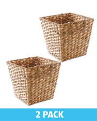 Water Hyacinth Storage Basket 2 Pack