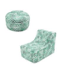 Leaf Lounger Chair & Ottoman Set