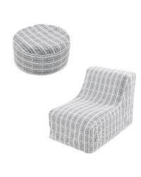 Arrow Lounger Chair & Ottoman Set