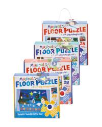 Nursery Rhyme Musical Floor Puzzles
