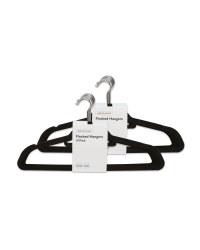 Black Flocked Coat Hangers 20 Pack