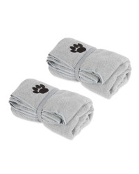 Light Grey Pet Towel 2 Pack