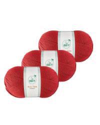 So Crafty Raspberry Aran Yarn 3 Pack