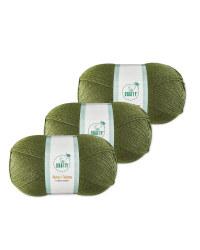 Forest Green Aran Yarn 3 Pack