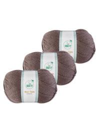 So Crafty Charcoal Aran Yarn 3 Pack
