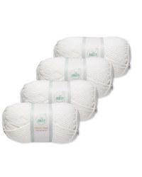 Brilliant White Chunky Yarn 4 Pack