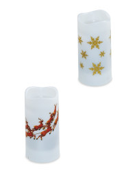 Christmas Projector Candle 2 Pack