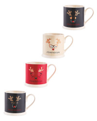 Team Rudolph Christmas Mugs 4 Pack