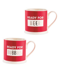 Ready For Bubbles & Beer Mugs 2 Pack