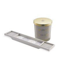 Grey Knox Tray with Candle