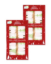 Forest Peg Card Holders 2 Pack