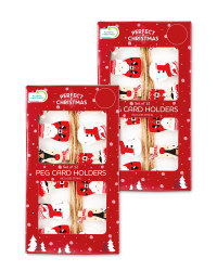 Welcome Home Peg Card Holders 2 Pack