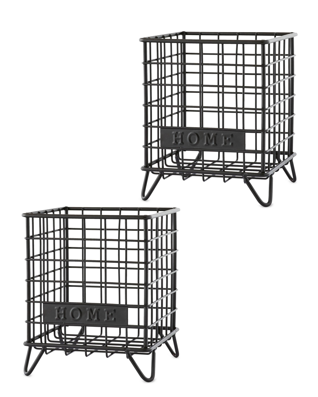 Black Home Mini Wire Storage 2 Pack