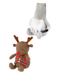 Santa & Reindeer Christmas Doorstops