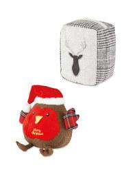 Robin & Stag Christmas Doorstops