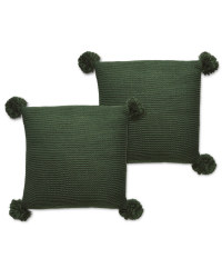 Emerald Knit Cushion Pom - 2 Pack