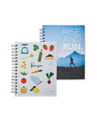 Fitness And Recipe Journal 2 Pack