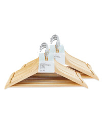 Natural Wood Clothes Hangers 20Pack