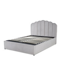 Grey Double Ottoman Storage Bed