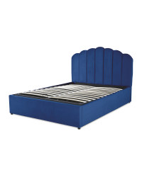 Navy Double Ottoman Storage Bed