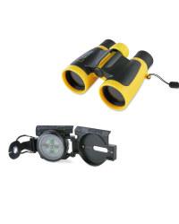 Binoculars & Compass Set