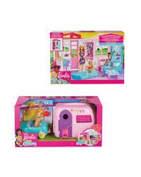 Barbie House & Chelsea Camper