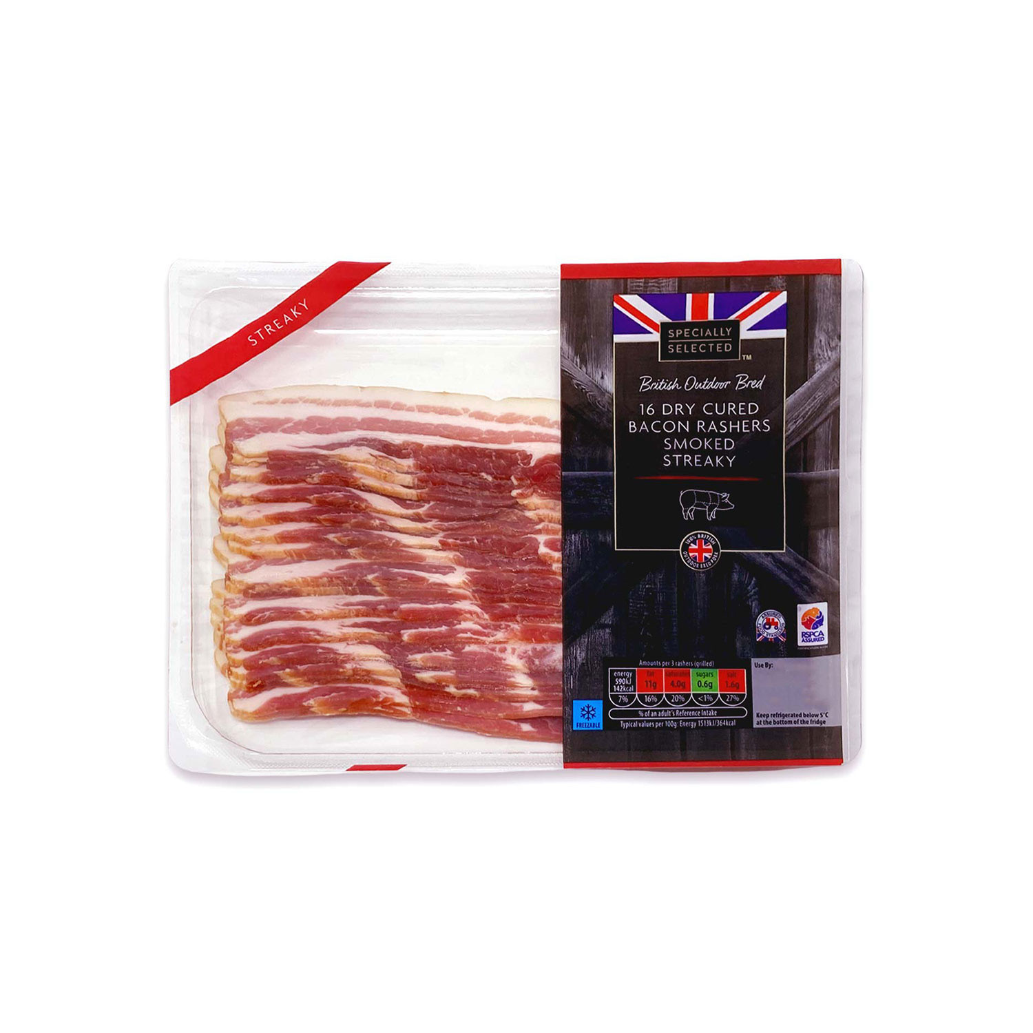 British Bacon Rashers Smoked Streaky