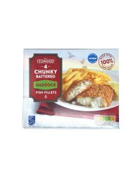 4 Chunky Battered Haddock Fillets