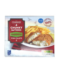 Chunky Battered Haddock Fish Fillets