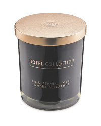 Pink Pepper, Rose & Leather Candle