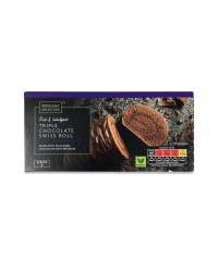 Triple Chocolate Swiss Roll