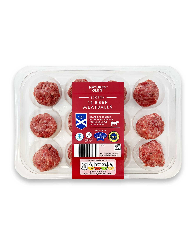 Scotch 12 Beef Meatballs