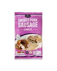 Smoked Garlic Pork Sausage