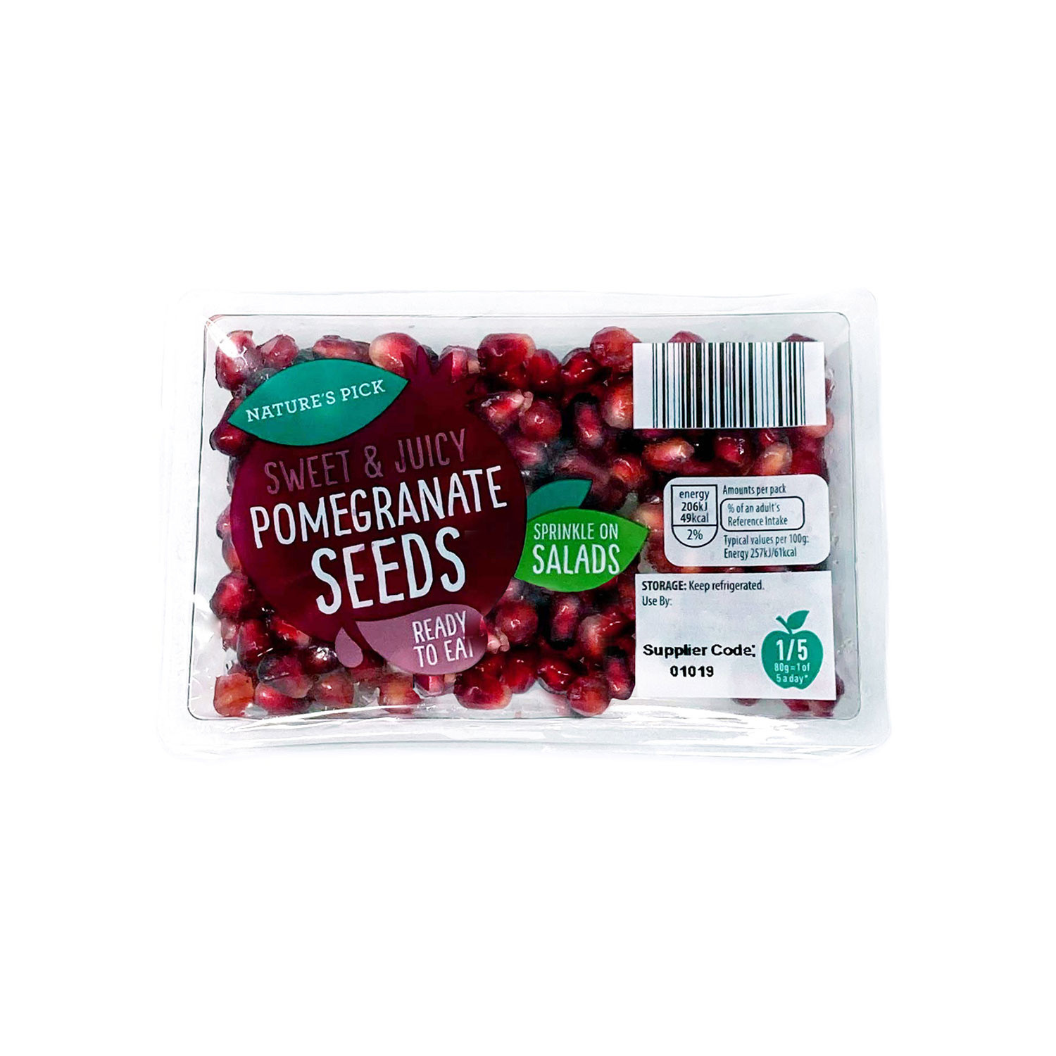 Nature's Pick Pomegranate Seeds 80g