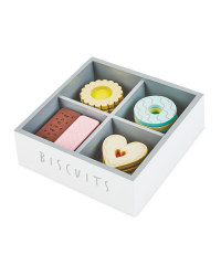 Little Town Wooden Grey Biscuit Set