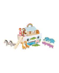 Little Town Wooden Noah's Ark