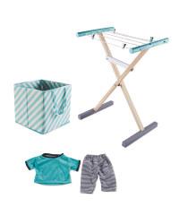 Little Town Clothes Airer/Basket Set